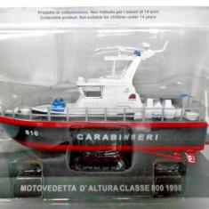 Macheta Motovedetta D`altura Classe 800 - 1998  CARABINIERI scara 1:43