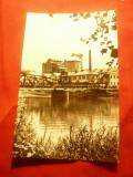 Ilustrata Ocna Mures - Uzina Produse sodice   circulat 1967