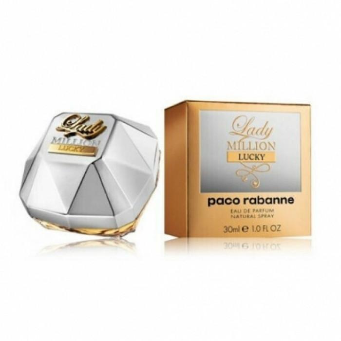 Apa de parfum Tester Femei, Paco Rabanne Lady Million Lucky, 80ml