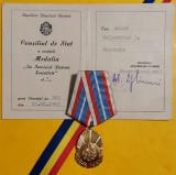 SV * Medalia RPR * Pentru Servicii Deosebite ... Clasa I * cutie + legitimație
