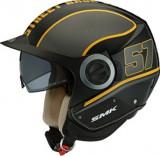 Cumpara ieftin Casca moto scuter SMK DERBY GRID MA246 culoarea negru gri mat, marimea L unisex