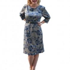 Rochie moderna, de culoare bleumarin, cu o curea