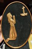 Cumpara ieftin Icoana rugaciune 26x19 cm, din metal si lemn, confectionata manual