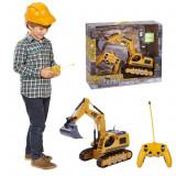 Excavator cu senile din cauciuc, telecomanda si acumulator inclus, Palmonix