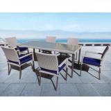 Set - masa cu 6 scaune din ratan