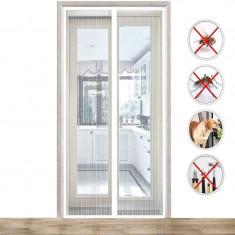 Cumpara ieftin Plasa anti-insecte pentru usa, dimensiuni 60x200cm, banda montare, 2 bucati