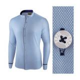 Camasa pentru barbati albastra slim fit Neo Elegance