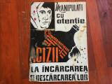 Arta / Design industrial - Afis din tabla perioada comunista protectia muncii !