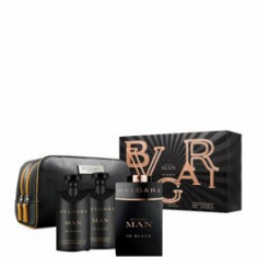 Set cadou Man in Black (Apa de parfum 100 ml + Aftershave balsam 75 ml + Gel de dus 75 ml), Pentru Barbati