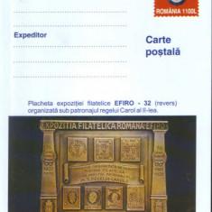 Romania - Intreg postal CP necirculat 2001- Placheta Expozitiei Filat.EFIRO 1932