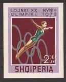 ALBANIA 1972 SPORT J.O. DE VARA ( colita ndt.) MNH, Nestampilat