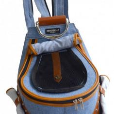 Geanta transport caini tip rucsac-bluejeans - 24 X 33X 46 cm - Doggydolly -...