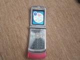 Cumpara ieftin Telefon Rar Clapeta Motorola Razr V3 silver/ Rose Livrare gratuita!, Multicolor, Neblocat