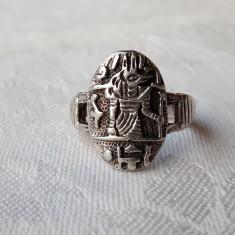 INEL argint EGIPT simbol FARAONIC de efect VECHI manopera EXCEPTIONALA unicat