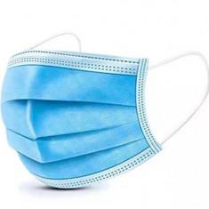 Cumpara ieftin Set 50 bucati Masca Protectie Respiratorie 3 straturi, 3 pliuri, Albastru
