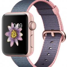 Curea pentru Apple Watch 38 mm iUni Woven Strap, Nylon, Dark Purple