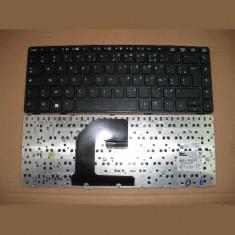Tastatura laptop second hand HP Elitebook 8460P Black Franta WIN8