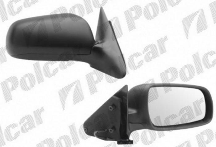 Oglinda exterioara Skoda Octavia (1U2/1U5) 03.1997-11.2009 Partea Dreapta Crom Convex Electrica Cu Incalzire, carcasa neagra, Model MARE Kft Auto