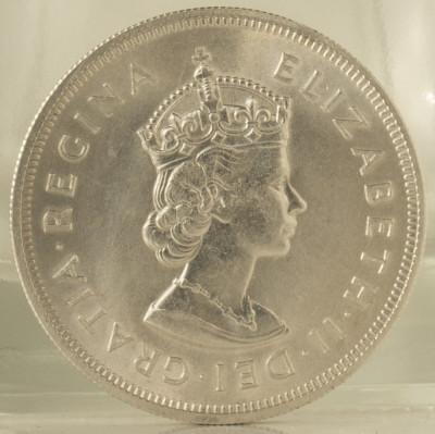 1 crown, 1959 Insulele Bermude UNC/ necirculata - comemorativa - de argint foto