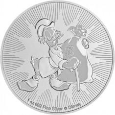 Moneda argint 999 lingou,DISNEY SCROOGE MCDUCK 2018 1 uncie = 31 grame