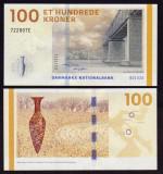 DANEMARCA █ bancnota █ 100 Kroner █ 2015 █ P-66d █ UNC █ necirculata