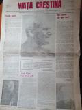 ziarul viata crestina anul 1,nr.1-februarie 1990-ziarul bisericii greco catolice