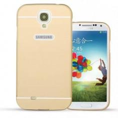 Husa Bumper Aluminiu APC GSM Pentru Samsung Galaxy S4 Auriu Mat
