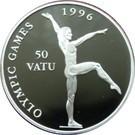 Vanuatu 50 Vatu 1994 - Gymnast,  Argint 31.47g/925, Aoc1 KM-30 UNC !!!