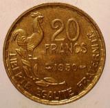 1.652 FRANTA 20 FRANCS FRANCI 1950 XF 3 PENE GEORGES GUIRAUD