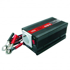 Invertor de tensiune auto Carpoint 12V-230V 300W 50Hz cu protectii la supra-sarcina baterie descarcata supravoltaj scurt-circuit Kft Auto
