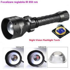 Lanterna INFRAROSU cu focalizare cu Led OSRAM IR 850nm - 2 acumulatori