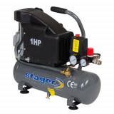 Cumpara ieftin Compresor cu piston Stager HM1010K, 6 L, 8 bar, 126 l min, 1 CP, monofazat
