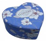 Cutie bijuterii inimioara Blue Flowers