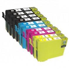 Set 10 cartuse compatibile Epson T1281/T1282/T1283/T1284