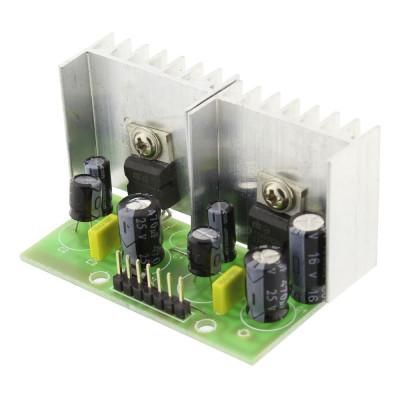 Amplificator audio, stereo, 2x5W, 4 ohmi cu TDA 2003 - 130131 foto