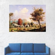Tablou Canvas, Peisaj de Toamna in Sat - 80 x 100 cm