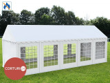 3X10 M CORT EVENIMENTE PROFESIONAL ECONOMY, PVC ignifug 500 g/m² ALB