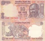 Bancnota India 10 Rupees 2009 UNC