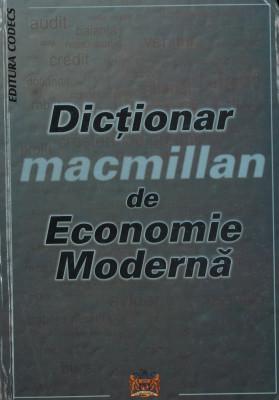 Macmillan - Dictionar de economie mondiala foto