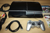 SONY PlayStation 3|PS3 FAT BLACK 640GB|1 controller|complet +2 jocuri