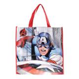 Shopping bag Captain America albastra