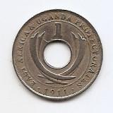 Africa de Est - (Uganda) 1 Cent 1911 H - George V, 22.3 mm KM-7