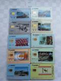 = LOT 440 - TAIWAN - 10 CARTELE TELEFONICE DIFERITE =