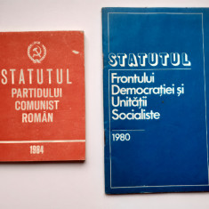 Statutul Partidului Comunist Roman +Frontului Democratiei Si Unitatii Socialiste