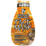 Cumpara ieftin Masca Metalica cu Vitamina C, W7 Metallic Easy-Peel Face Mask, 10 g