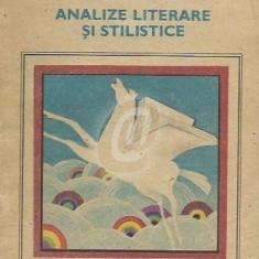 Analize literare si stilistice