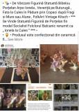 """Statuetă Figurină Bibelou Porțelan Arpo """" Ionela la Cules , Veveriță Pădure """""""