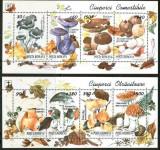 ROMANIA 1994 CIUPERCI Comestibile si otravitoase- 2 Blocuri cu 4 Tb  LP.1349 MNH, Nestampilat
