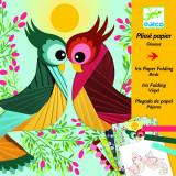 Atelier creativ cu hartie plisata Pasari, Djeco