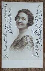 Eugenia Ciucurescu - Foto tip CP dedicatie foto